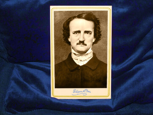 EDGAR ALLAN POE Infamous Genius of the Macabre Cabinet Card Photo Vintage