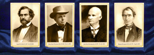 COLT WINCHESTER BROWNING REMINGTON U.S. Gun Greats 4 Cabinet Card Set Photos NRA