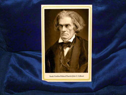 JOHN C. CALHOUN 19th Century Southern Fire-Eater Cabinet Card Photo Civil War