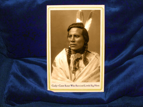 CURLY SURVIVOR OF LITTLE BIG HORN Custer Cabinet Card Photo Native American