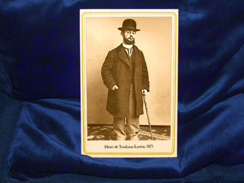HENRI DE TOULOUSE-LAUTREC 1875 Post-Impressionist Artist Cabinet Card Photo