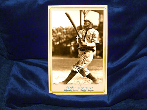 Honus Wagner Cabinet Card Photo Vintage Sports Baseball Great 1900 RP
