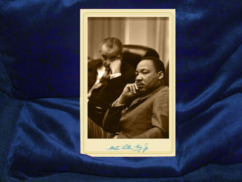 MARTIN LUTHER KING JR Civil Rights Champion Cabinet Card Photograph Vintage RP