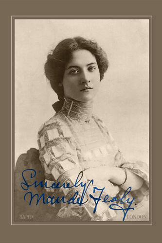 MAUDE FEALY Silent Film Actress Beauty Photo A++ Cabinet Card CDV