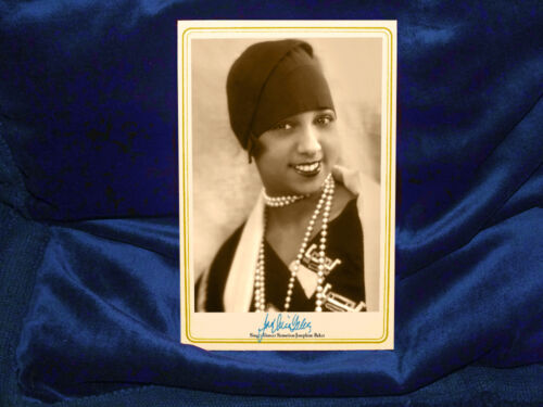 JOSEPHINE BAKER Singer Dancer Sensation Cabinet Card Photo Vintage History CDV