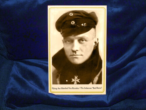 MANFRED VON RICHTOFEN WWI Flying Ace The RED BARON Cabinet Card Photograph