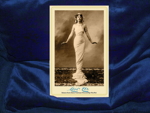 MATA HARI WWI Spy & Woman of Intrigue Cabinet Card Photograph Vintage A++ Repro
