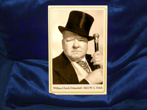 W. C. FIELDS Cabinet Card Photograph Comic Genius Funny Man Vaudeville Film