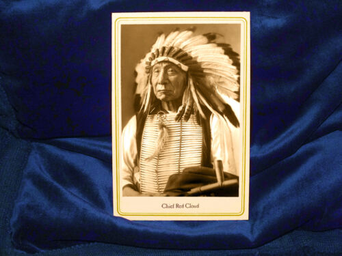 LAKOTA CHIEF RED CLOUD Cabinet Card Photograph Vintage Native American History
