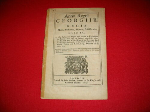 1732 British  Act Encouraging the Growth of Coffee in His Majesty's PlantationsOriginal Period Items - 13957