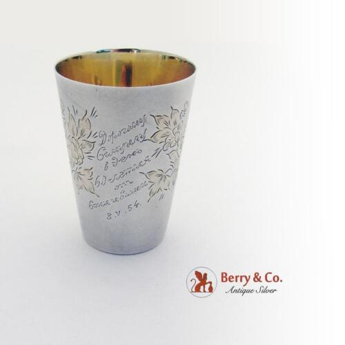 Tall Vodka Shot Cup 825 Silver Moscow 1954