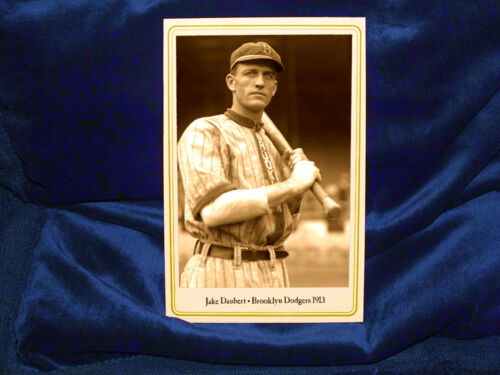 Brooklyn Dodgers Jake Daubert Cabinet Card Photograph Vintage Baseball 1913