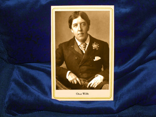 OSCAR WILDE Victorian Writer With Vintage Cabinet Card Photo RP