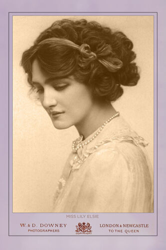 LILY ELSIE British Actress Singer Ca 1915 Vintage Photograph A++ Cabinet Card