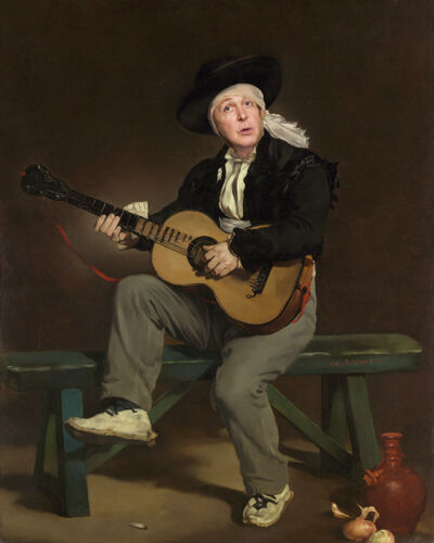 PAUL McCARTNEY As The Guitar Player by Edouard Manet 1860
