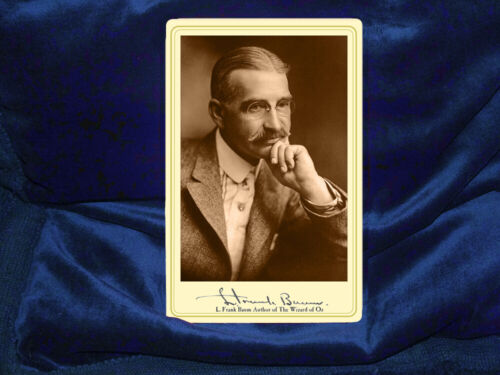 L. FRANK BAUM Writer The Wizard Of Oz Cabinet Card Photo Victorian Vintage RP
