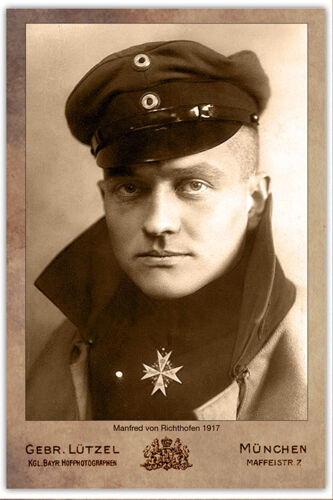 MANFRED VON RICHTHOFEN The Red Baron German WWI FLYING ACE 1917 Aviation CDV RP