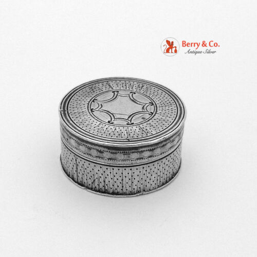 Patch Snuff Box Georgian London 1800 Phipps and Robinson Sterling Silver