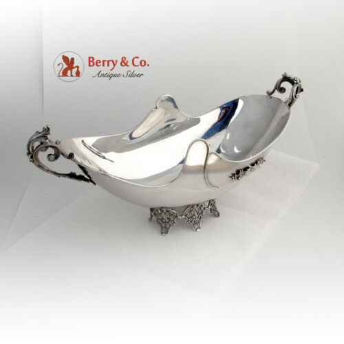 Ornate Centerpiece Bowl 800 Silver Italy