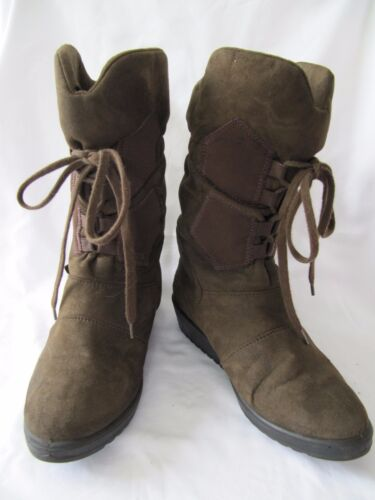 Romika Pull-On Faux Suede Boots - Size EU 36