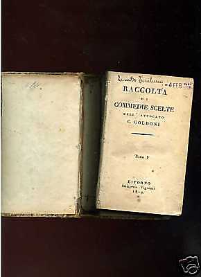 C.Goldoni - RACCOLTA DI COMMEDIE SCELTE-1 vol-2 tomi