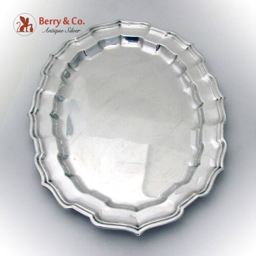 Chippendale Oval Serving Tray Frank Smith Sterling Silver 1930