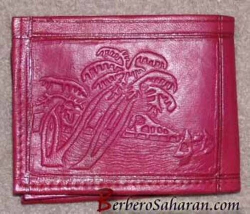 Cheap Handmade genuine leather wallet from Algeria/Morocco style 1