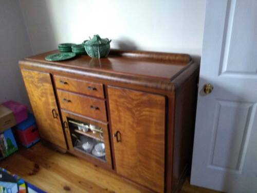 1940s vintage sideboard dove tailed construction drawers