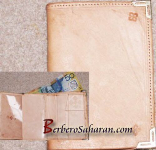 Handmade plain, soft, pure and genuine leather wallet from Algeria