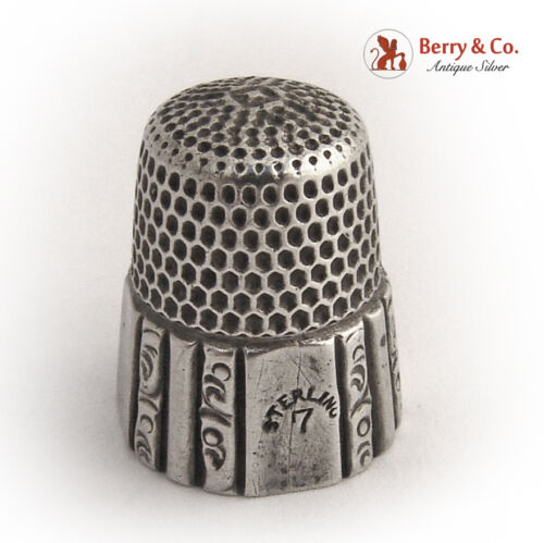Thimble Sterling Silver 1900