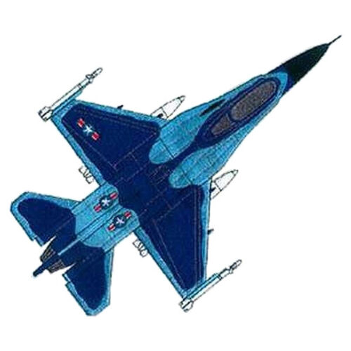 """F-16 Falcon, Military, Plane, Embroidered Patch 10.2"""" x 8""""Other Militaria - 135"""