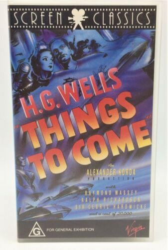 H.G Wells - Things To Come VHS Cassette 1936 Cult Classic Rare Brand New VHS...
