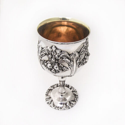 Renaissance Water Goblet Reed and Barton Silverplate