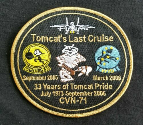 NAVY TOMCAT LAST CRUISE Commemorative Military Patch 1973-2006Navy - 66533
