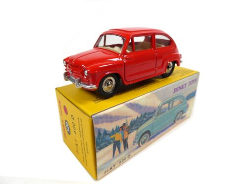 Fiat 600 D rouge - DINKY TOYS DeAgostini VOITURE MODEL CAR - 520