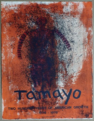 Tamayo Obscure Man 200 years  of American Growth Mourlot Stone Litho 1976