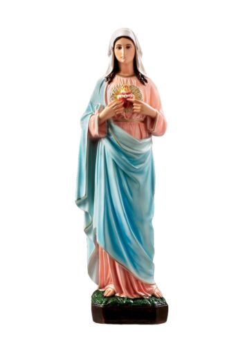 Immaculate Heart of Mary resin statue cm. 65