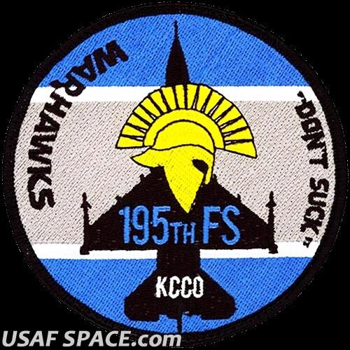 USAF 195th FIGHTER SQUADRON- F-16 -WARHAWKS- AZ-ANG ORIGINAL AIR FORCE VEL PATCHAir Force - 48823