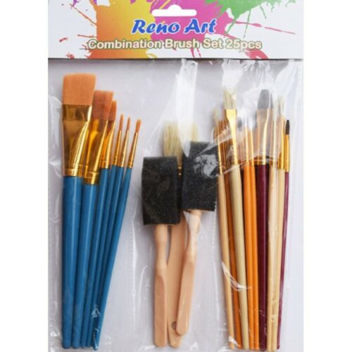 30Pcs Art Paint Brushes Draw Painting Acrylic Water Colour Oil Set Drawing