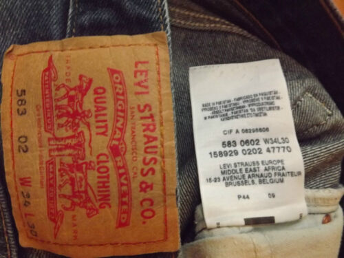 "LEVIS 583 RELAXED FIT W34"" L30""(ORIGINAL) 379N"
