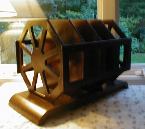 MID-CENTURY RETRO MAGAZINE RACK CADDY TOWEL HOLDER OFFICE WALL FILE NAUTICAL