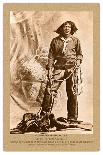 "NAT LOVE ""DEADWOOD DICK"" Old West Cowboy Legend Vintage Photo Cabinet Card RP"