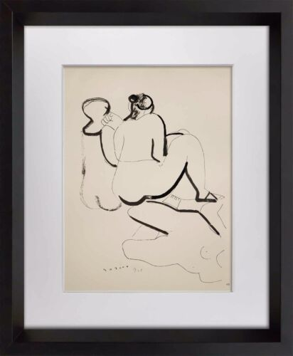 """Marino MARINI Lithograph SIGNED Ltd EDITION """"Forme """" 1942  +FRAME 20x24in"""
