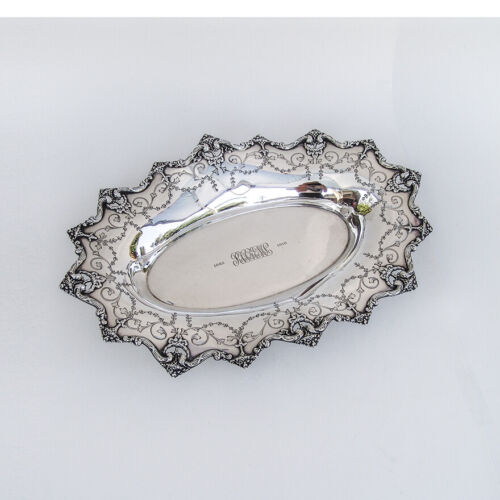 Large Serving Tray Edwardian Style Sterling Silver Shreve Bell Mark 1910