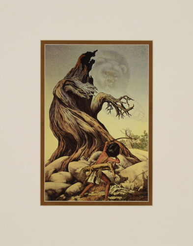 Bev Doolittle The Grizzly Tree Double Matted print fits a standard 11x14 frame