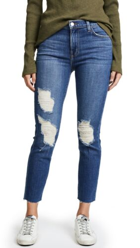 L'AGENCE MARCELLE SLIM FIT DISTRESSED JEANS W24 UK 6