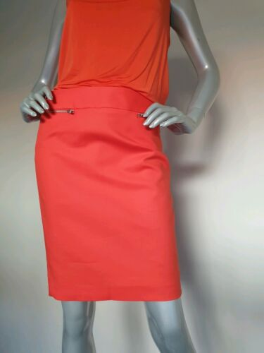 CALVIN KLEIN women's Orange Straight Pencil Skirt. Size 6. NEW with Tags