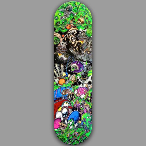 8.5 atomic7 BOOGERS skateboard Ringelstetter ren and stimpy space cat fish ufo