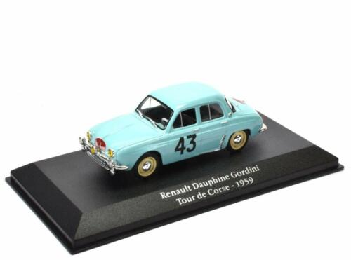 Renault Dauphine Gordini Corse 1959- 1/43 Atlas Voiture miniature Model car G024