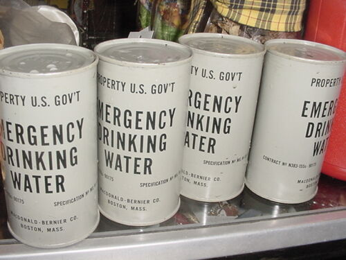 Vintage US Government Emergency Drinking Water Can UnopenedOther Surplus Military Gear - 36077